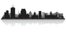 Quebec Canada City Skyline Vector Silhouette