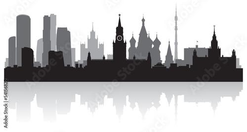 Photo  Moscow city skyline vector silhouette