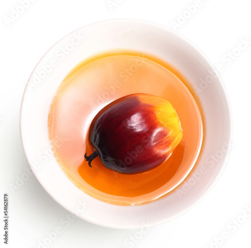 Oil palm fruit and cooking oil Wall mural