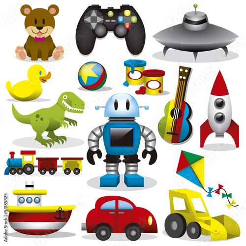 wektorowy-zestaw-zabawek