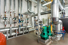 Interior Gas Boiler Room With ...