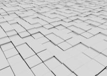Grey Blocky 3d Floor