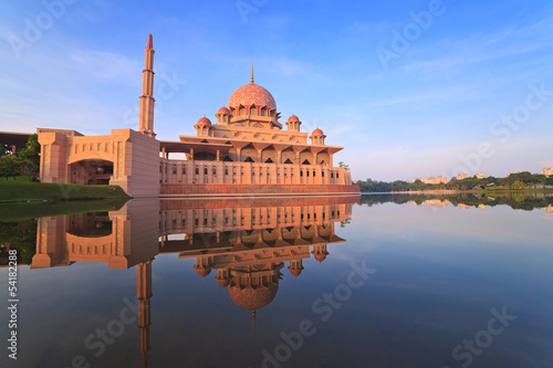 Putra Mosque located in Putrajaya of Malaysia