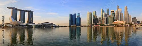 Tuinposter Singapore Singapore panorama city skyline at Marina Bay