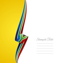 South African Left Side Brochure Cover Vector