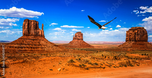 Photo sur Toile Orange eclat Monument Valley