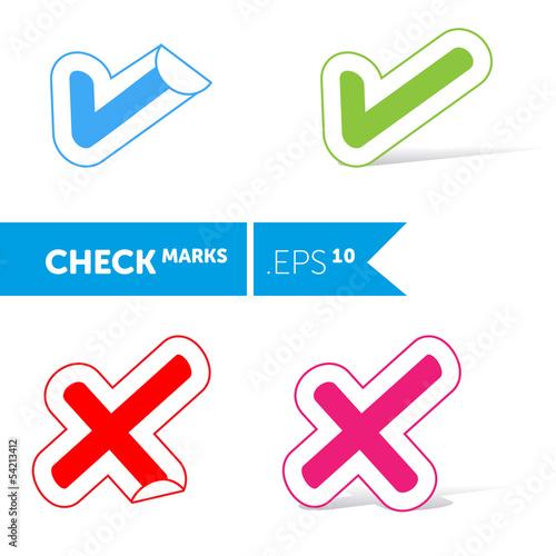 Fotografia, Obraz  Check mark icon set