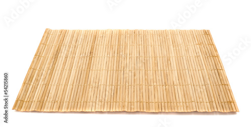 Obraz Bamboo straw serving mat isolated - fototapety do salonu