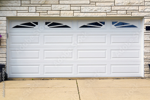 Photo  garage door