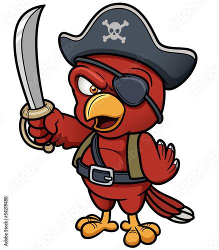 wektorowa-ilustracja-kreskowka-pirata-papuga