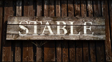 Rustic Sign For A Stable On A ...