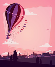 Hot Air Balloon. Romantic Back...