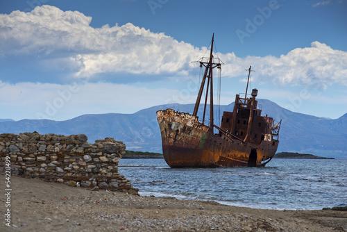 In de dag Schip Shipwreck