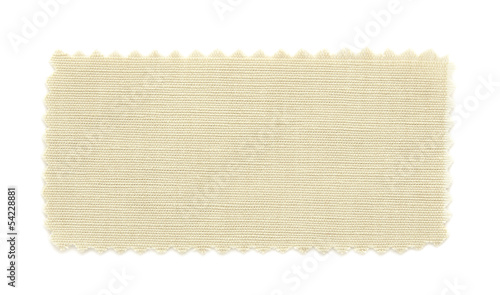 Fotobehang Stof beige fabric swatch samples isolated on white background