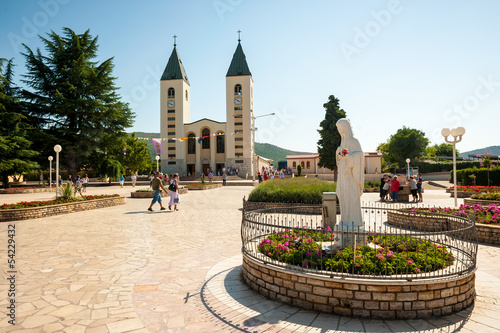 Medjugorje sanctuary and church Canvas Print