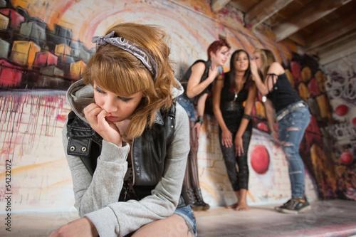 Fotografie, Obraz  Sad Teenager Sitting Alone