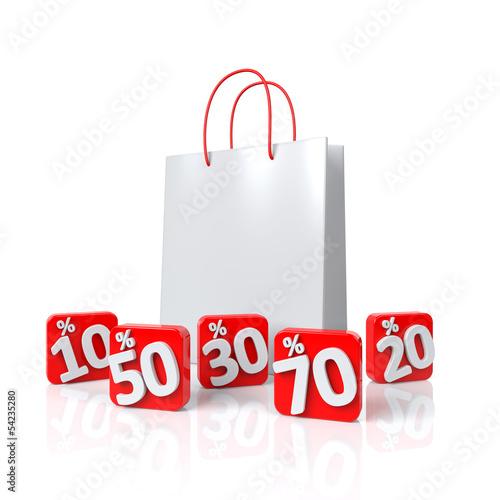 torba-na-zakupy-z-procentem-3d-ilustracja