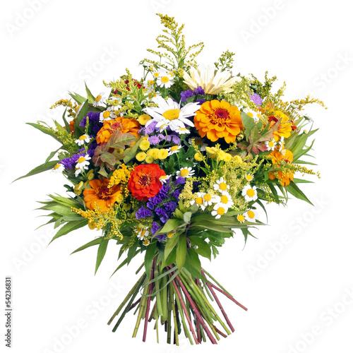 Foto op Canvas Madeliefjes Blumenstrauß aus dem Bauerngarten