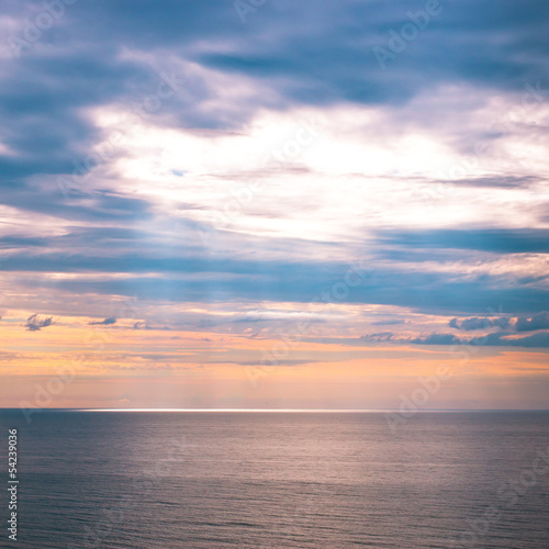 Fototapety, obrazy: Sky and ocean at early morning