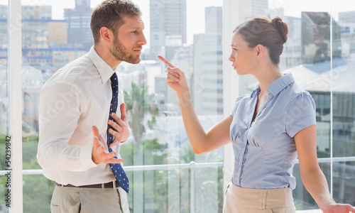 Business partners having a heated argument Wallpaper Mural