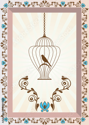Acrylic Prints Birds in cages Bird in Cage Background
