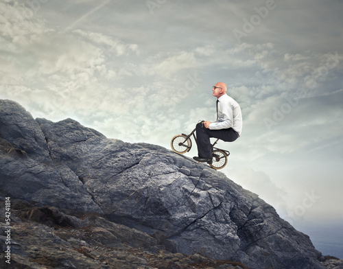 Fotografie, Obraz pedaling uphill