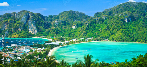 View point at Phi-Phi island in Krabi province of Thailand Wallpaper Mural