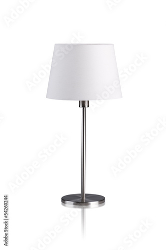 Fotografie, Obraz  Table lamp isolated on white background