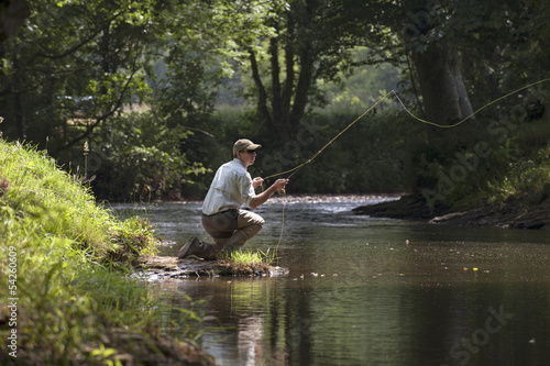 Papiers peints Peche Fly fishing on an English river