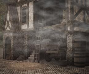 Fototapeta na wymiar Dark Medieval Photographic Background