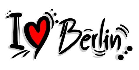 Panel Szklany Podświetlane Berlin Love berlin