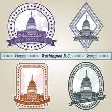 Vintage Stamp Washington DC