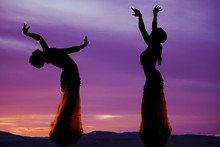 Belly Dancer Purple Silhouette...