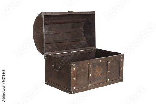 Fotografie, Obraz  Open treasure chest isolated