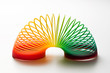 canvas print picture - Rainbow coloured slinky toy