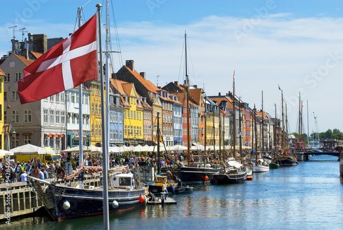 Photo  Historic canal of Nyhavn in Copenhagen, Denmark