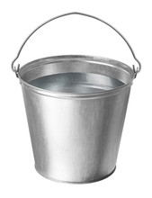 Metal Bucket With Water On A W...