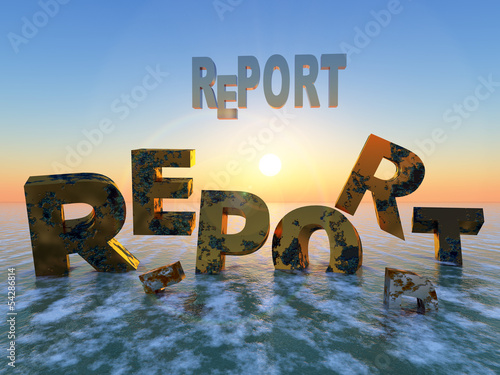 Photo Expiry date of reports, going down the drain
