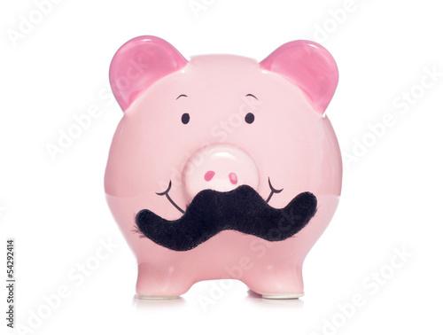 Photo  Movember piggy bank