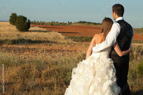 Fotografie, Obraz  Newly married couple