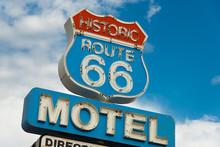 Historic Route 66 Motel Sign I...