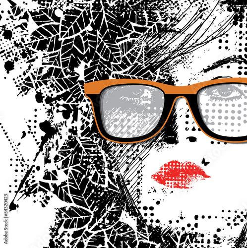 In de dag Vrouw gezicht abstract autumn woman