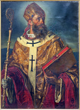 Vienna - Paint Of St. Augustinus The Big Teacher Of West Church