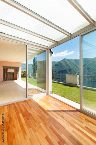 Fotografie, Tablou Interior apartment with garden, veranda