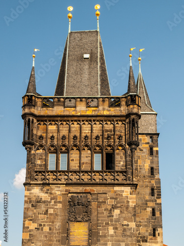 Fotobehang Praag Old Town Bridge Tower