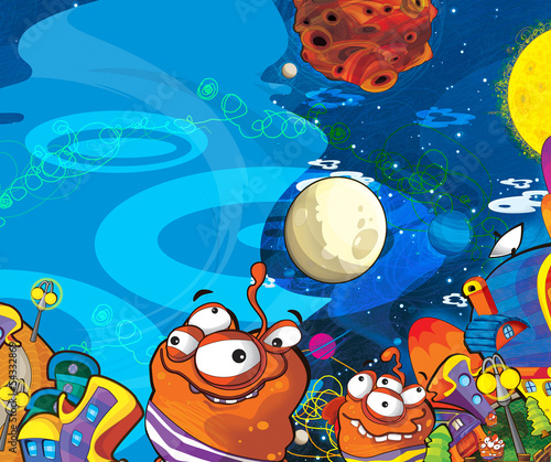 Foto op Canvas Kosmos The aliens subject - ufo