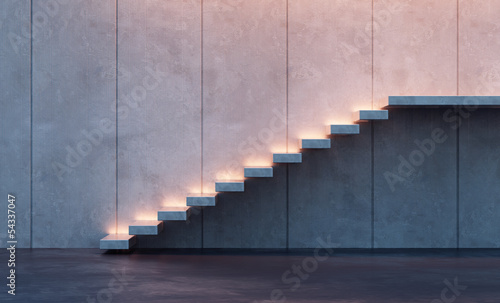 Fotomural illuminated stairs