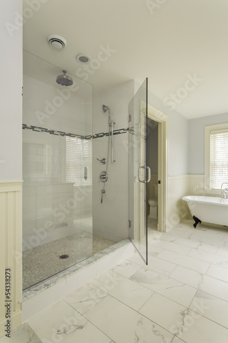 Luxury Master Bathroom with Enclosed Glass Shower - Buy this ...