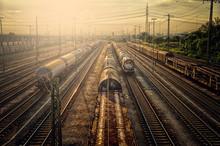 Railway Sunset (HDR Image)