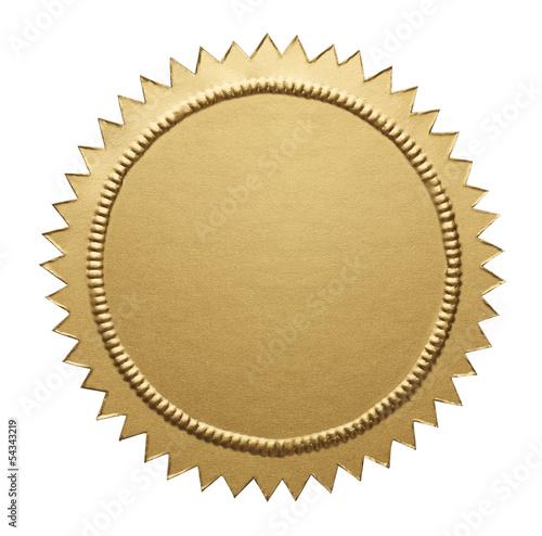 Gold Metallic Seal Fototapete